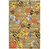 Safavieh Soho Collection SOH736A Handmade Brown and Multi Premium Wool Area Rug (3'6″ x 5'6″)