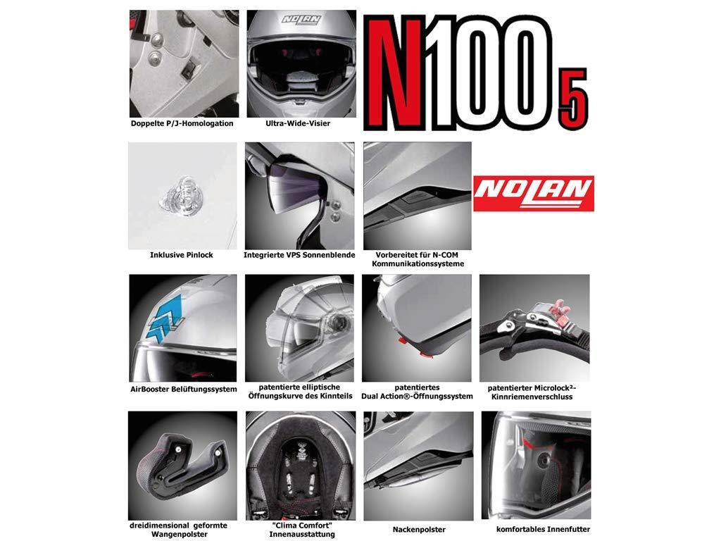 NOLAN N100-5 LUMI/ÈRE N-COM GLOSSY BLACK M