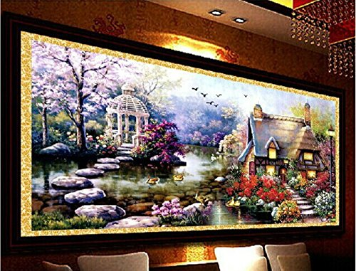 YGS-32 DIY 5D Diamond Mosaic Landscapes Garden lodge Full Diamond Painting Cross Stitch Kits Diamonds Embroidery Home Decoration zhuanshihua Made in China