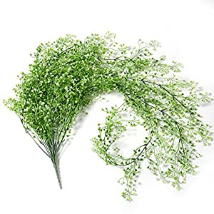 """Crt Gucy 44.5"""" Artificial Fake Hanging Flowers String Plant Vine for Home Garden Wall Decoration 15"""