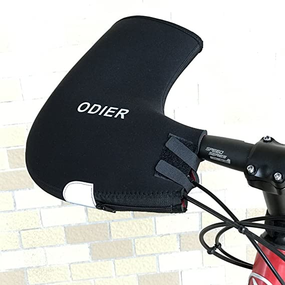 ODIER Bike Handlebar Mitts Cyclist Pogies Mittens for Winter Thermal Cover for Handlebar Keep Hands Warm 1 Pair