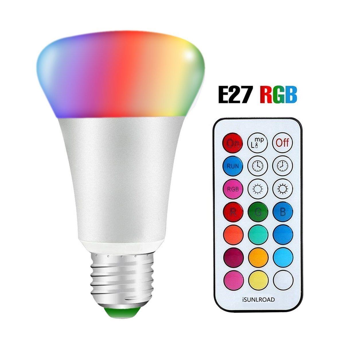RGB+blanc Minkle 10W Ampoules LED RGB Changement de Couleur Dimmable LED Bulbs E27 Lampes dambiance avec T/él/écommande Sans Fil
