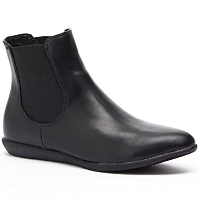 Strony Womens Fashion Pull-On Ankle Boots