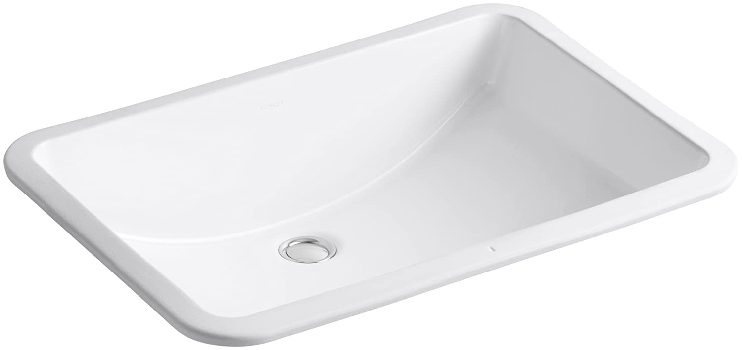 KOHLER K 2215 0 Ladena Undercounter Bathroom Sink, White   Vessel Sinks    Amazon.com