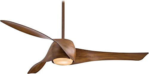 Minka Aire Artemis 58 in. Integrated LED Indoor Distressed Koa Ceiling Fan