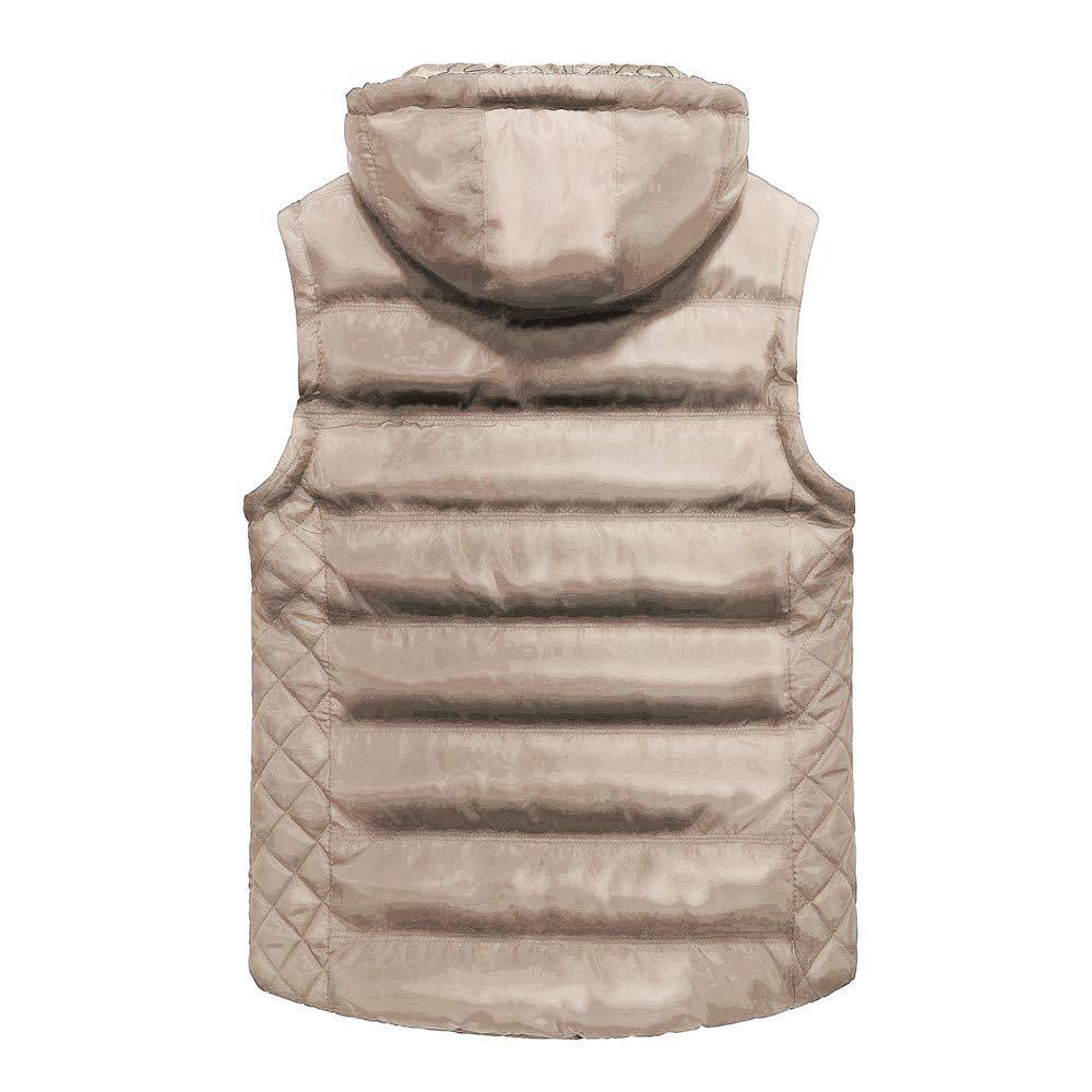 Winter Removable Hooded Padded Vest Allywit Men Puffer Vest