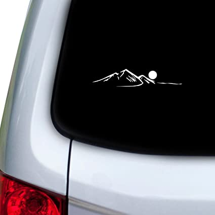 White Mountain Auto >> Stickany Car And Auto Decal Series Japanese Mountains Sticker For Windows Doors Hoods White