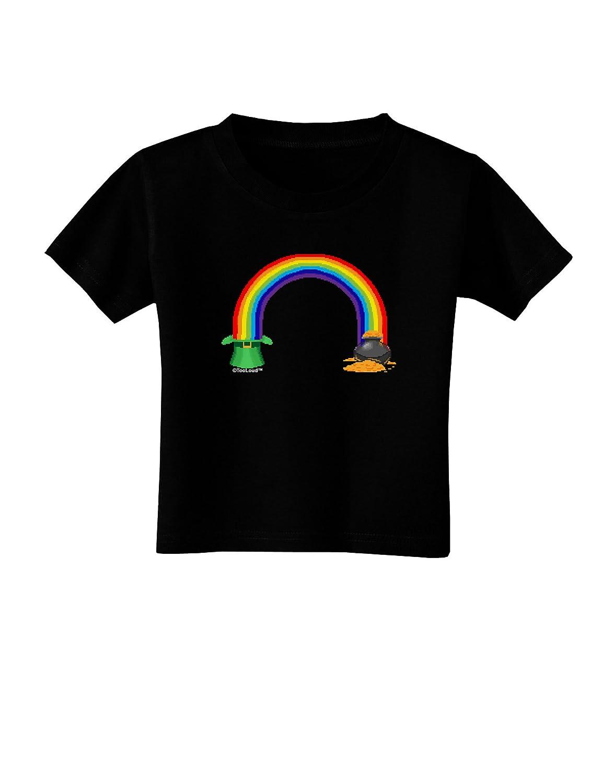 TooLoud Pixel Pot of Gold Toddler T-Shirt Dark