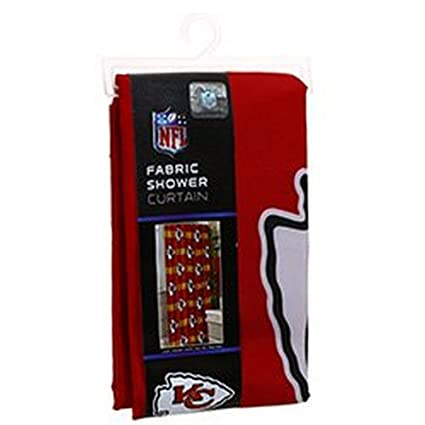 The Northwest Company NFL Licensed Kansas City Chiefs 72quotx72quot Fabric Shower Curtain