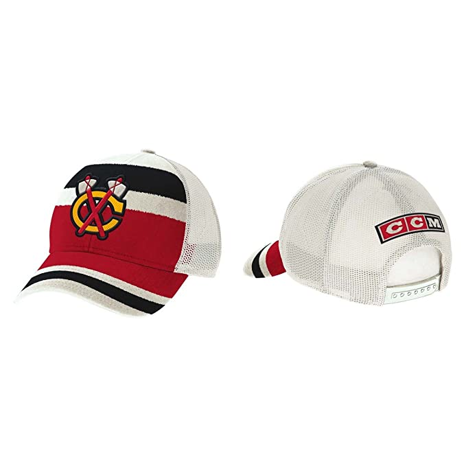 Image Unavailable. Image not available for. Color  Chicago Blackhawks CCM  2017 Winter Classic Meshback Trucker Adjustable Hat - Red a1b1a94f190c