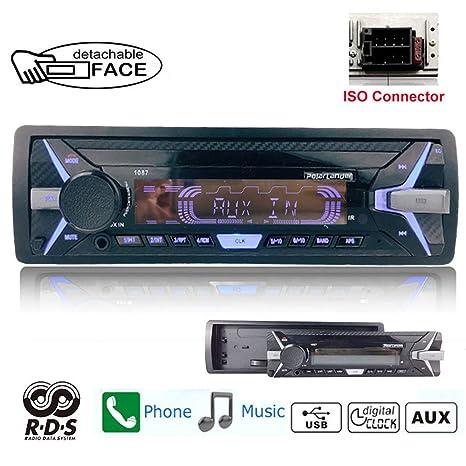 1 Din Car Radio 12V BT Detachable MP3 Player Remote Stereo SD//USB//AUX FM