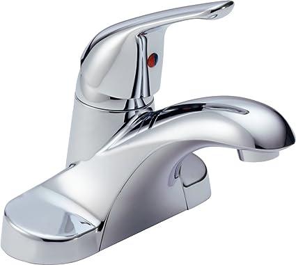 Exceptional Delta B501LF Foundations Single Handle Bathroom Faucet Less Pop Up, Chrome