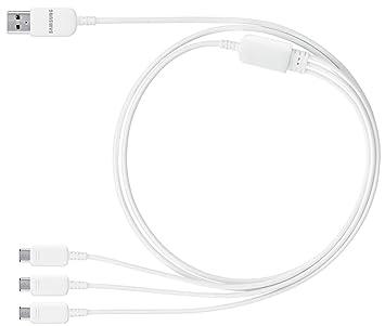 Samsung ET-TG900UWEGWW - Cable para cargador de móvil, color blanco- Versión Extranjera