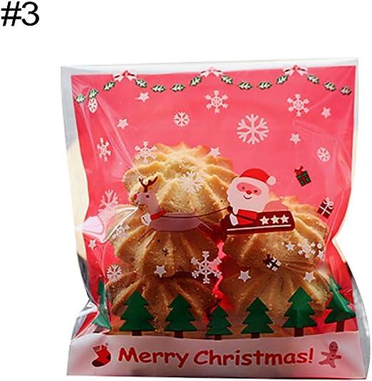 Christmas Decor Cartoon Nougat Wrapper Manual Birthday Party Kids Wedding 100Pcs
