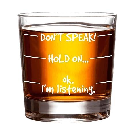 Review Don't Speak Whiskey Glass