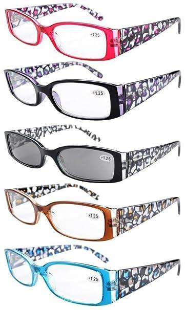 082cd899743 Eyekepper Spring Hinge Plastic Floral Design Reading Glasses (5 Pack)  Includes Sunglass Readers Women