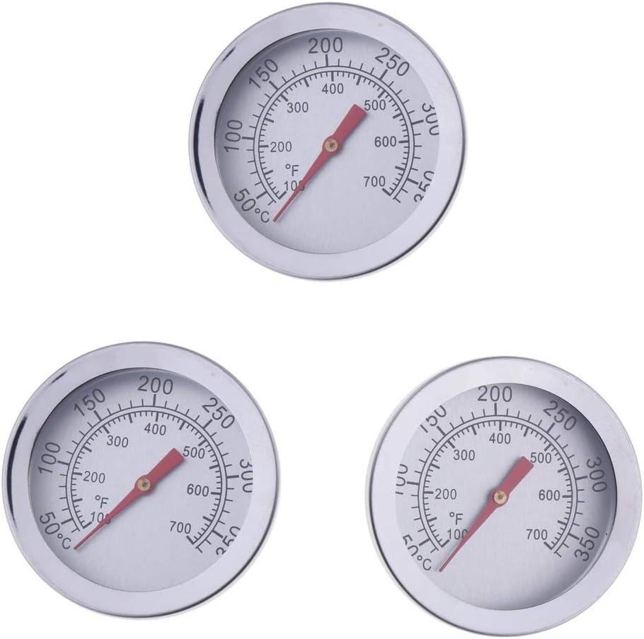 CUTICATE 3X Barbacoa Barbacoa Ahumador Parrilla Termómetro 50-350 ° C Medidor De Temperatura Cocción De Carne