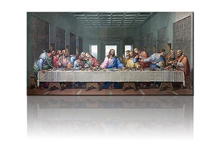 Christian Artwork Jesus Pictures for Wall the Last Supper Decor Leonardo da Vinci Paintings Modern Artwork Home Decor for Living Room Panel/Piece ...