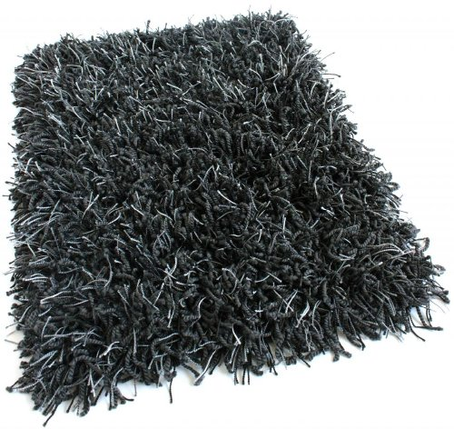 Shag Area Rug Many Size and Colors Available Black Marble , 5 x 8