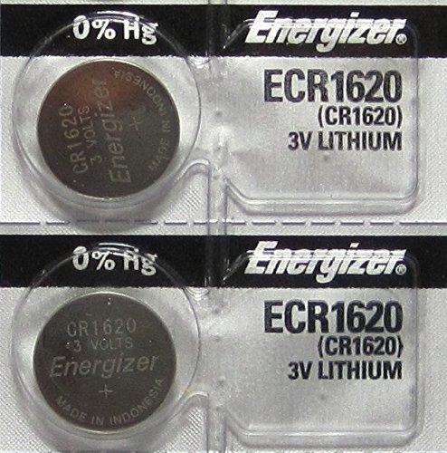 2 Energizer CR1620 Lithium 3V Coin Cell Batteries (1620 Battery)