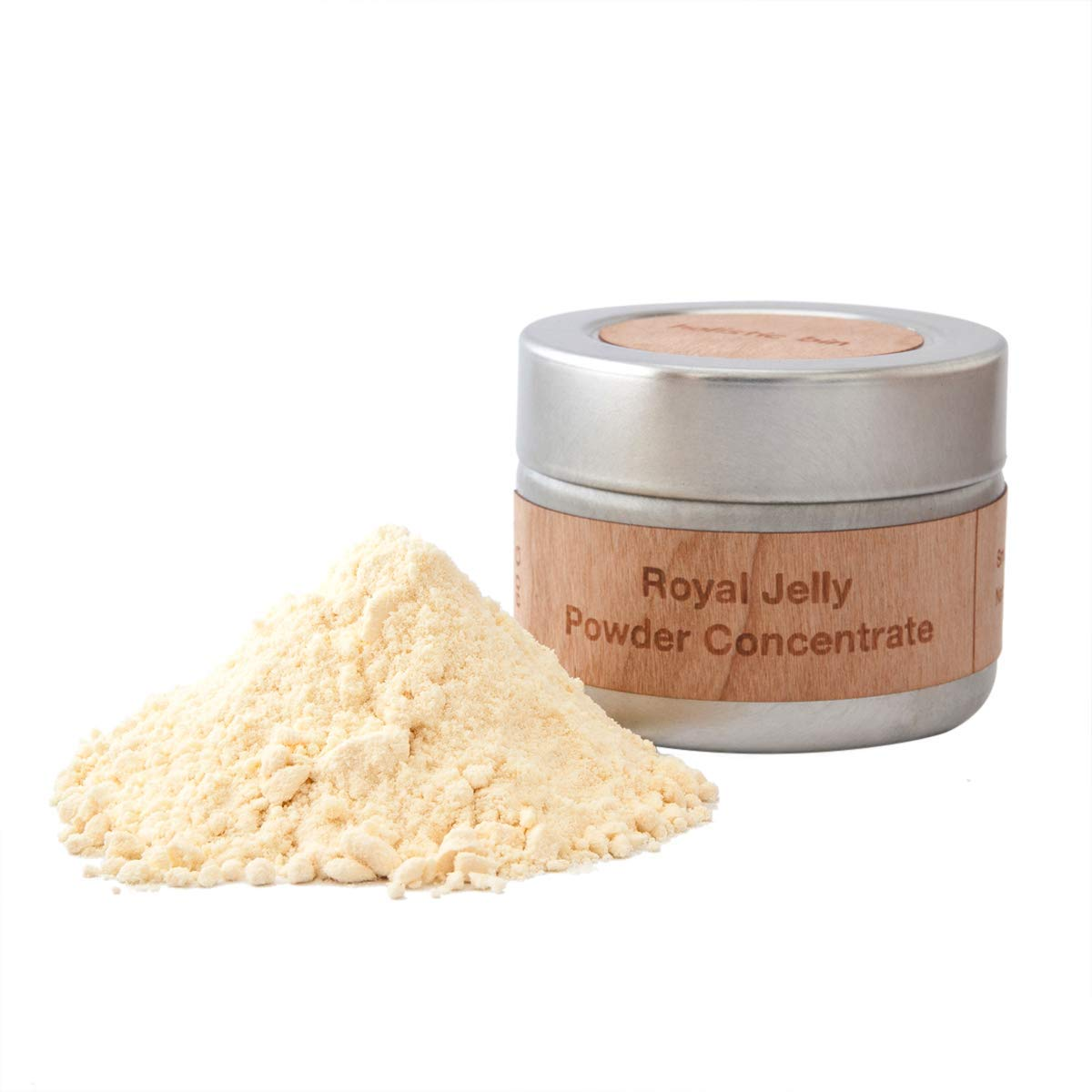 Royal Jelly Powder by Holistic Bin - 3X Concentration (60 Servings) Naturally Sourced from Tibetan Plains. Rich in Proteins (Collagen), Amino Acids, Probiotics, Natural Nootropic