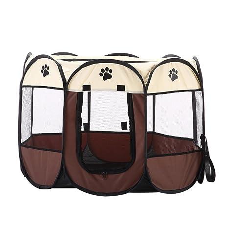 Juguete para mascotas, portátil, plegable, resistente al agua, 8 lados de malla