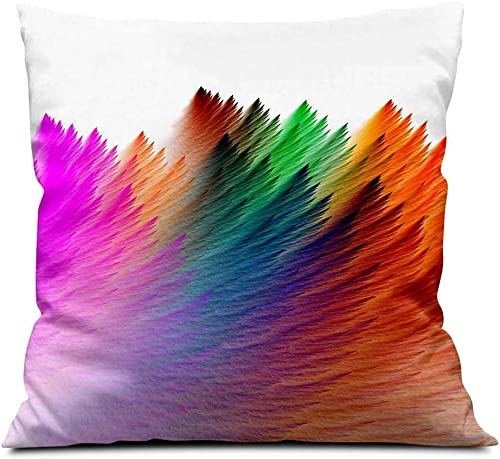 Colorful Abstract Color Square Soft Cloth Throw Pillows,Sofa Pillow Waist Pillow 18×18 inch