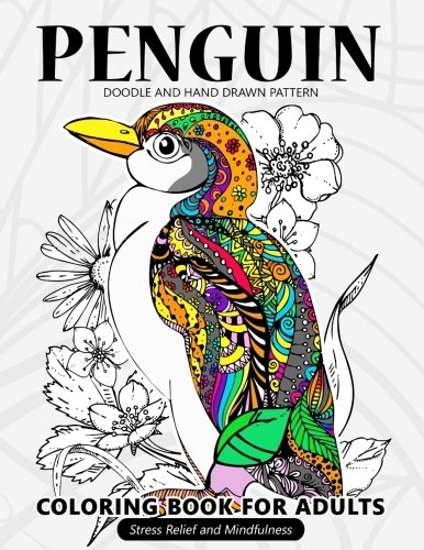 Penguin Snowman (Penguin Coloring Book for Adults: Stress-relief Coloring Book For Grown-ups)