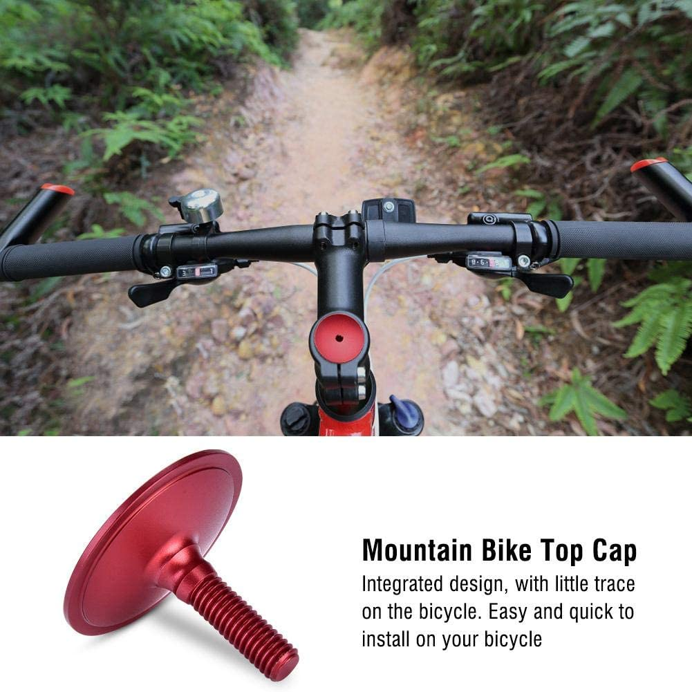 Dilwe Stem Top Cap Alluminum Alloy Road Mountain Bike Bicycle Headset Cap Cover Screws Stem Spacers for 28.6mm Fork Tube Cover Cycling Accessories