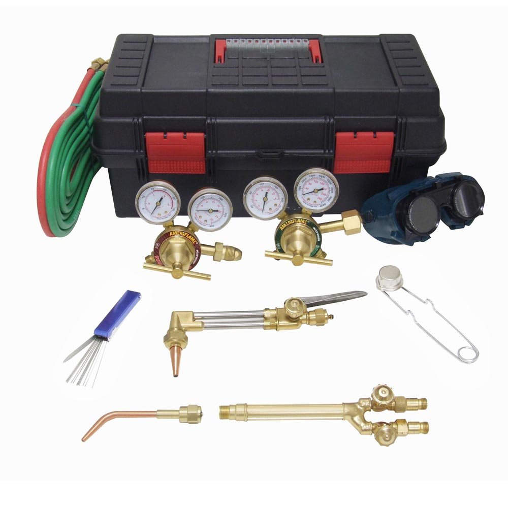 Brazing and Cutting Complete with Tool Box Ameriflame HS-MDU Medium Duty Outfit for Welding