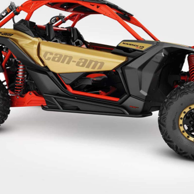 Can-Am New OEM Maverick X3 Black Rock Slider Kit 715002963