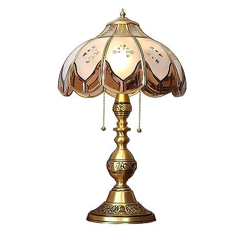 CCSUN Todo bronce Vendimia Lámparas de mesa Cabecera ...