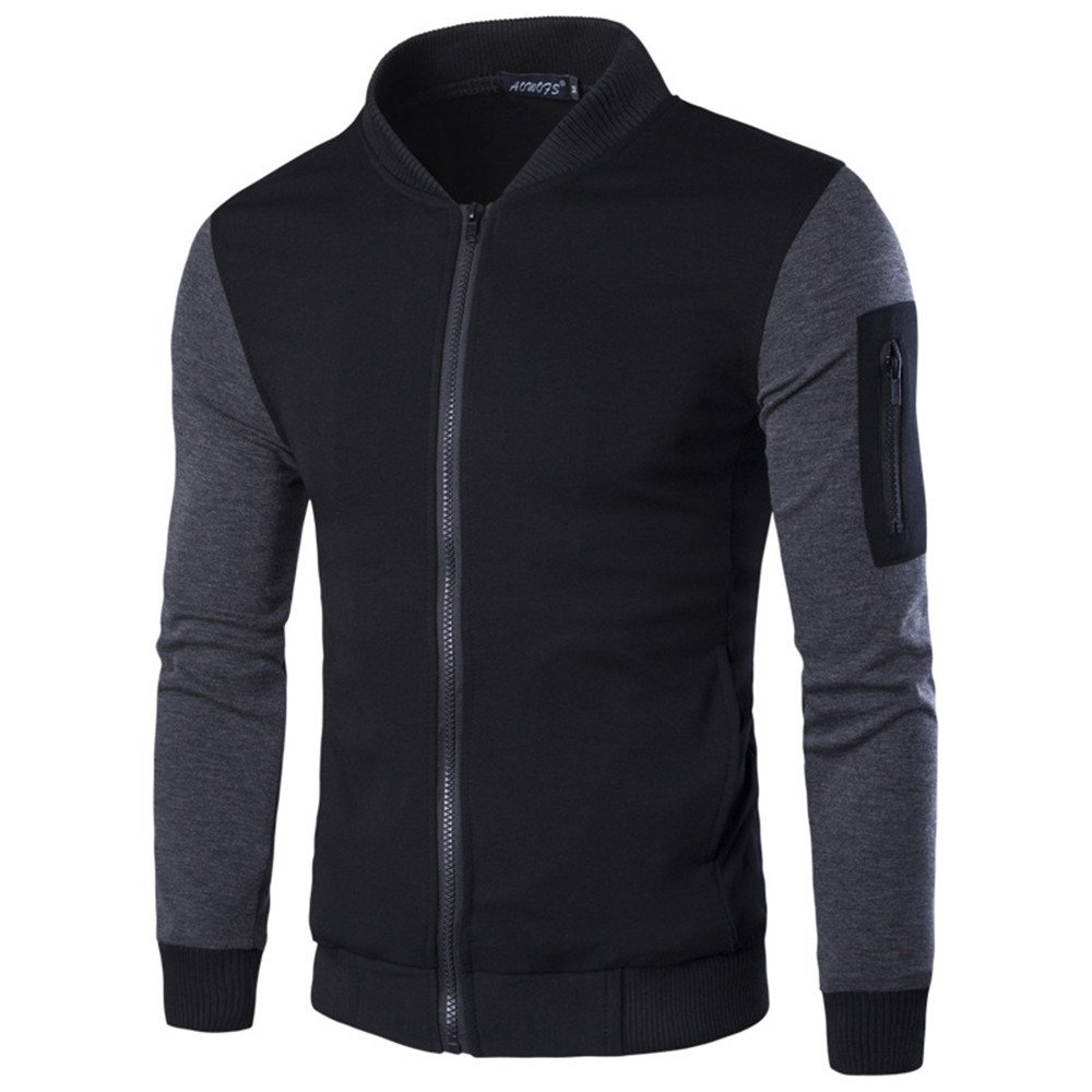 Männer - Casual Mode Pullover lässig Mantel aus männer britische regierungschef Temperament naht,schwarz,XL