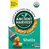 Ancient Harvest Organic Gluten-Free Corn and Quinoa Supergrain Pasta Shells, 8 oz. Box, Plant-Based Pasta with the Same Great Taste and Texture of Traditional Pasta - Packaging May Vary
