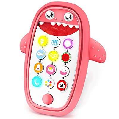 Sommer Children Music Toy Baby Phone with Removable Soft Case, Lights and Adjustable Volume - Play and Learn for Toddlers 18+ Months (red): Toys & Games [5Bkhe1104788]