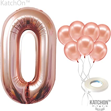 FOIL BALLOON TABLE DISPLAY HAPPY 1ST BIRTHDAY AGE 1 AIR FILL ONLY ROSE GOLD