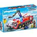 Playmobil Airport Fire Engine with Lights & Sound Building Set