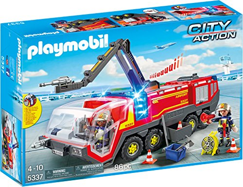 (PLAYMOBIL® Airport Fire Engine with Lights & Sound Building Set)