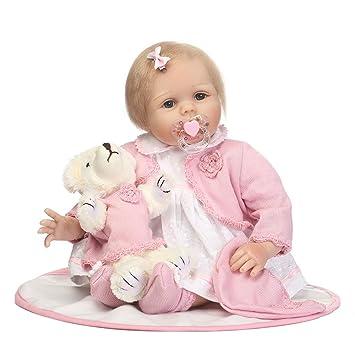 Toys & Hobbies New 55cm Reborn Baby Girl Vinyl Silicone Doll Children Accompany Bathing Toy Gift Dolls & Stuffed Toys
