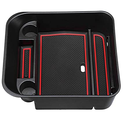 TOOGOO Car Organizer Central Car Storage Box Armrest Container Box For Discovery 4 2010-2016 Auto Interior Accessories