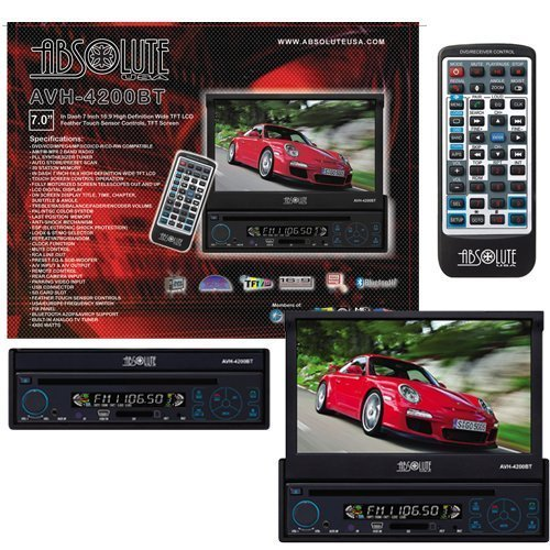 2005 Mustang Gt Slot Car (Absolute AVH-4200BT 7-Inch In-Dash Touch Screen DVD Multimedia Player with Built in Bluetooth and Analog TV Tuner SD Card Slot/USB)