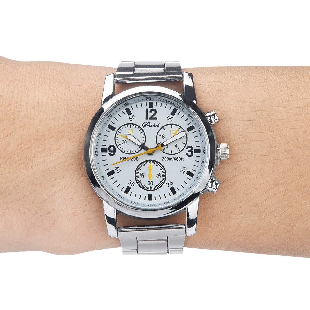 Beisoug La Mejor Moda Reloj de Pulsera analógico de Cuarzo Neutral Reloj de Acero: Amazon.es: Hogar