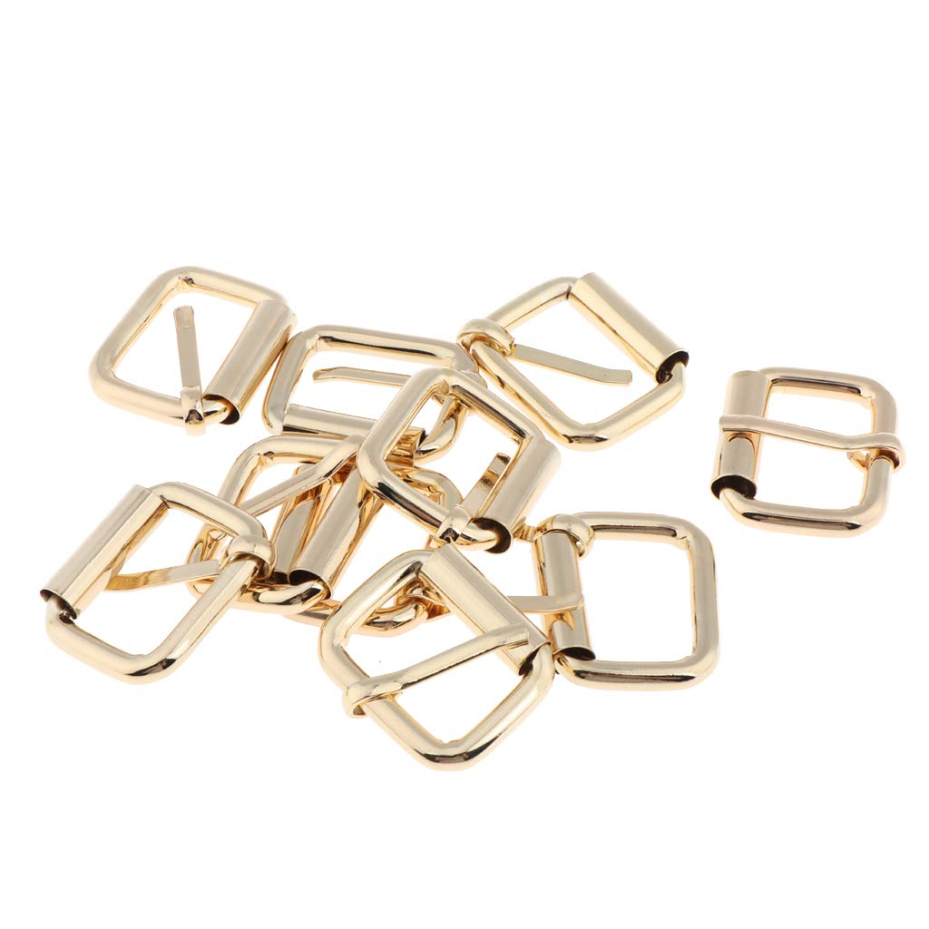 10//pack Gold Alloy Roller Buckles Belts Handbag Strap Buckle Replacement 1in