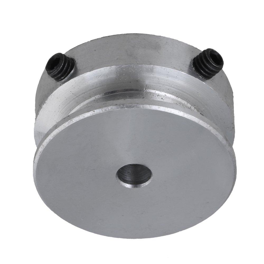 16mm Durchmesser 8mm ?ffnung Aluminium Einzel Schlitz Einloch Nut Riemenscheibe Rillenrolle mit fester Schraube