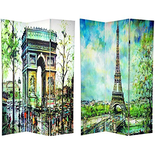 Oriental Furniture 6 ft. Tall Double Sided Paris Room Divider