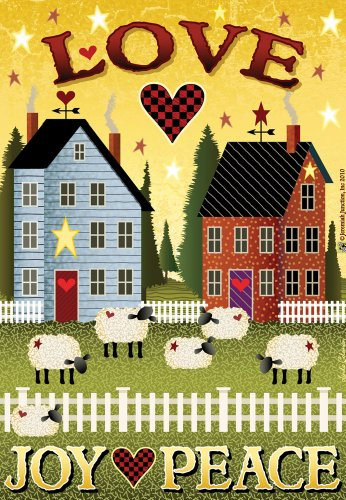 Love, Joy, Peace Shaker Houses House Flag For Sale