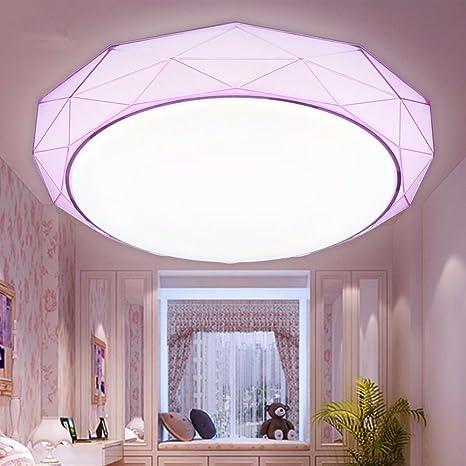 Luces de Techo Modernas Simplificadas LED Lamparas de Techo Iluminación Interior Económica de Energía de Techo 24W Cold White Púrpura