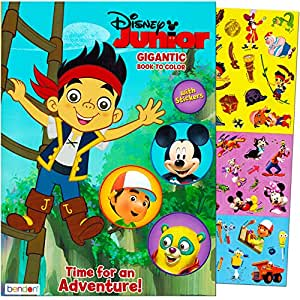 Amazon Com Disney Junior Gigantic Coloring Book For Boys