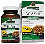 Nature's Answer Wild Yam Root Standardized, Vegetarian Capsules, 60-Count For Sale