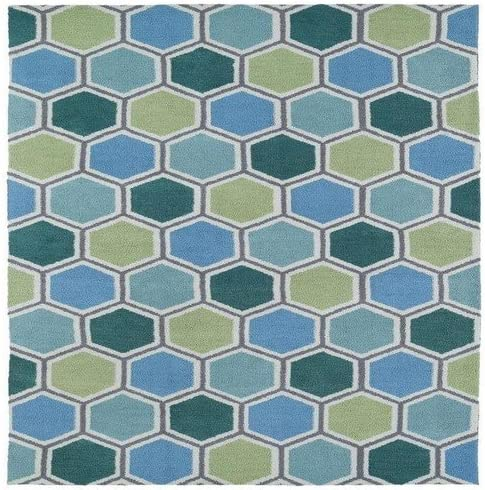 Kaleen Rugs Lily Liam Collection LAL05-17 Blue Machine Tufted Rug